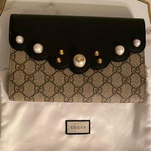 Monogram Pearl Gucci Clutch